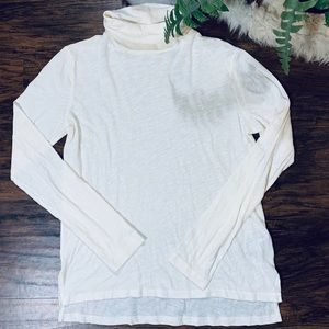 Madewell Whisper Cotton Turtleneck Cream Ivory